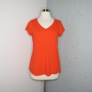 Eileen Fisher   Orange V-Neck